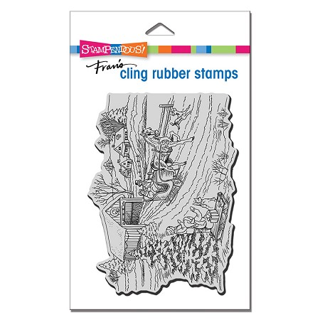 Stampendous - Cling One Horse Sleigh Rubber Stamp