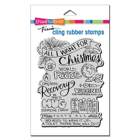 Stampendous - Cling All For Christmas Rubber Stamp