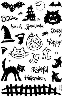 Stampendous Perfectly Clear Stamp - Spooky Halloween