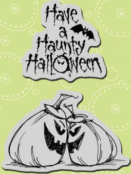 Stampendous Cling Mounted Rubber Stamps - Haunty Pumpkins Set