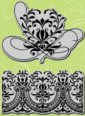 Stampendous Cling Mounted Rubber Stamps - Jumbo Romantic Border :)