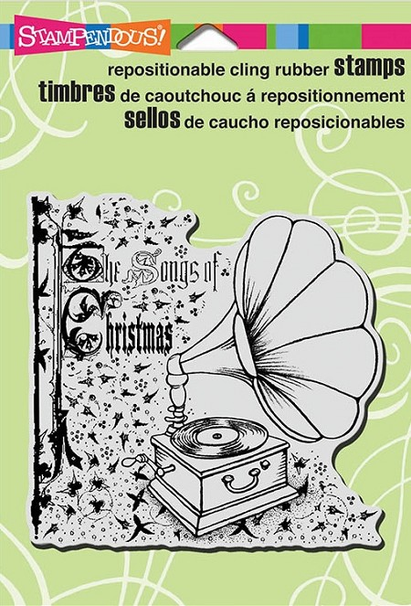 Stampendous Cling Mounted Rubber Stamps - Victrola