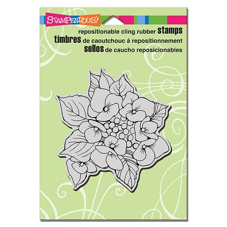 Stampendous Cling Mounted Rubber Stamps - Hydrangea Lacecap
