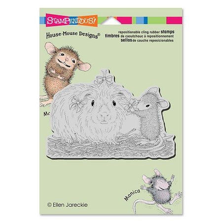 Stampendous Cling Mounted Rubber Stamps - House Mouse Designs - Pretty Guinea