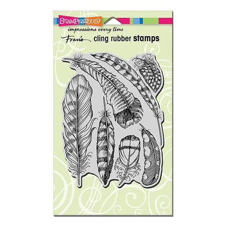 Stampendous Cling Mounted Rubber Stamp - Feathers Rubber Stamp
