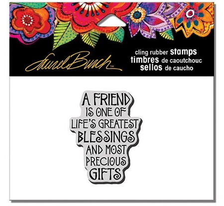 Stampendous - Laurel Burch - Cling A Friend Is Rubber Stamp