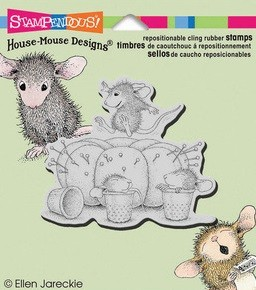 Stampendous Cling Mounted Rubber Stamp - House Mouse Pincushion :)