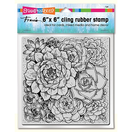 "Stampendous - 6""x6"" Cling Succulents Rubber Stamp"