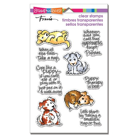 Stampendous Perfectly Clear Stamp - Puppy Therapy Perfectly Clear Stamps Set