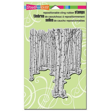 Stampendous Cling Mounted Rubber Stamps - Birch Forest