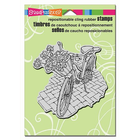 Stampendous Cling Mounted Rubber Stamps - Bicycle Basket