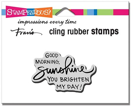 Stampendous - Cling Morning Sunshine Rubber Stamp