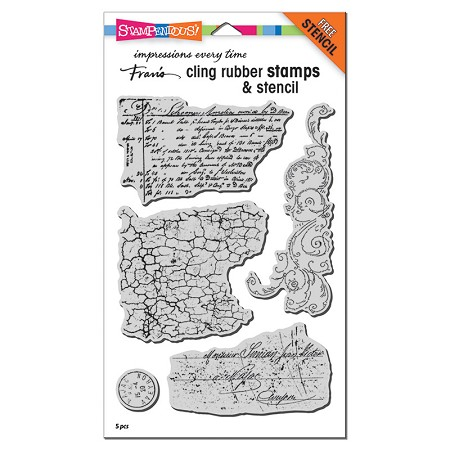 Stampendous - Grunge Script Cling Rubber Stamp Set