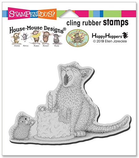 Stampendous - Cling House Mouse Birthday Kitty Rubber Stamp