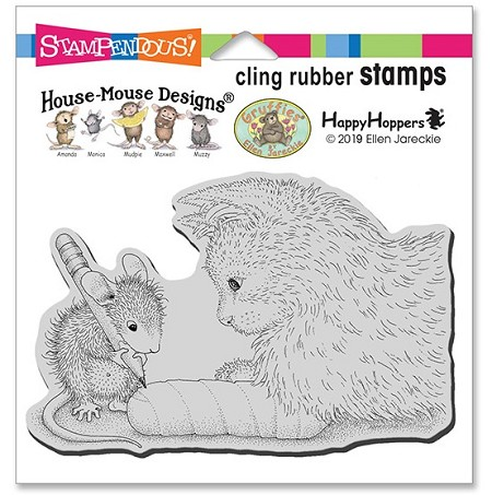 Stampendous - Cling House Mouse Kitten Cast Rubber Stamp
