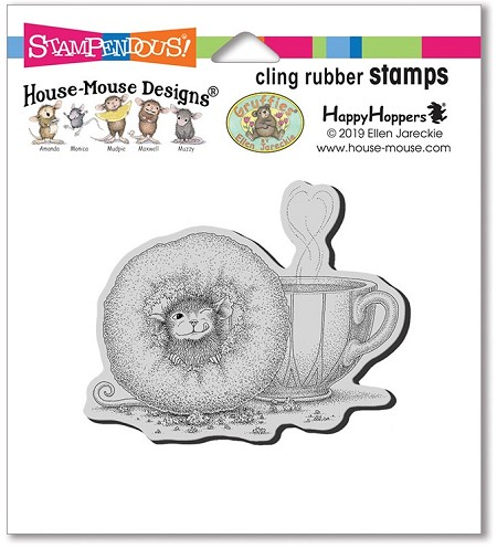 Stampendous - Cling House Mouse Donut Day Rubber Stamp