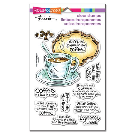 Stampendous - Coffee Frame Perfectly Clear Stamps