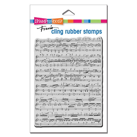 Stampendous - Background Music Cling Rubber Stamp