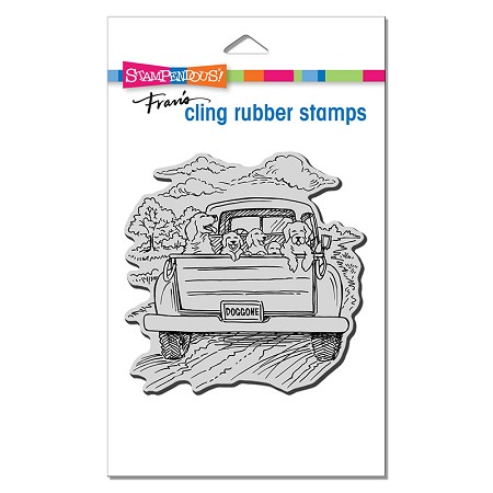 Stampendous - Dog Gone Cling Rubber Stamp