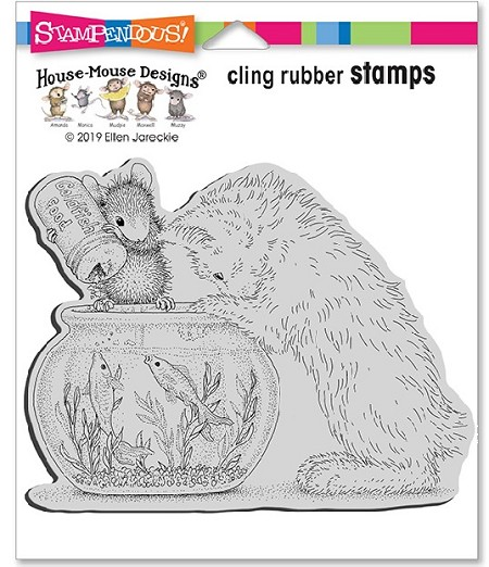 Stampendous - House Mouse Curious Kitten Cling Rubber Stamp