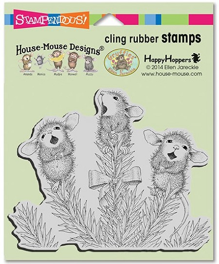 Stampendous Cling Mounted Rubber Stamps - House Mouse Designs - Pine Carolers Rubber Stamp