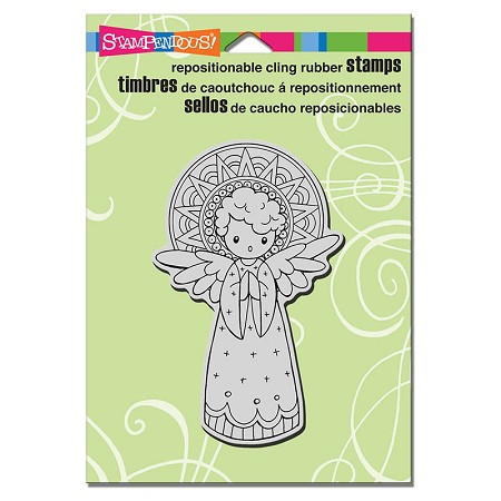 Stampendous Cling Mounted Rubber Stamps - Singing Angel