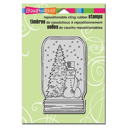Stampendous Cling Mounted Rubber Stamps - Snow Jar