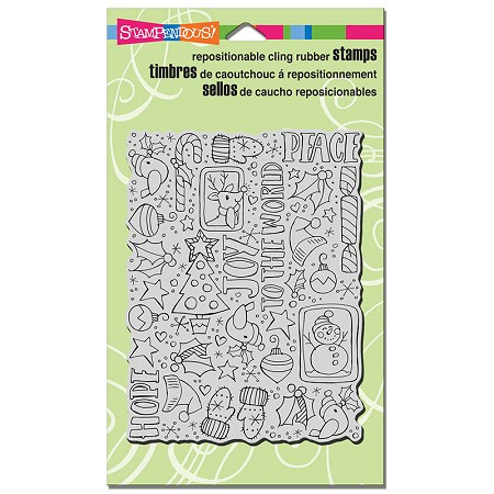 Stampendous Cling Mounted Rubber Stamps - Festive Background