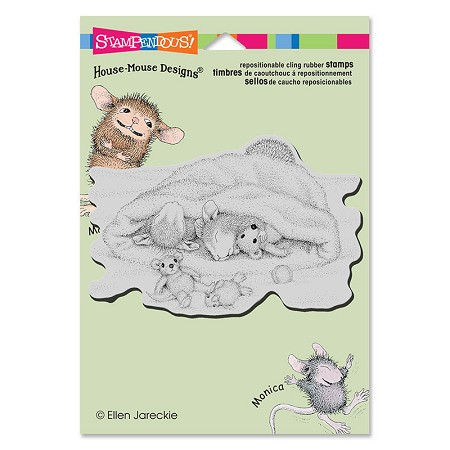Stampendous Cling Mounted Rubber Stamps - House Mouse Designs - Snow Cap Nap