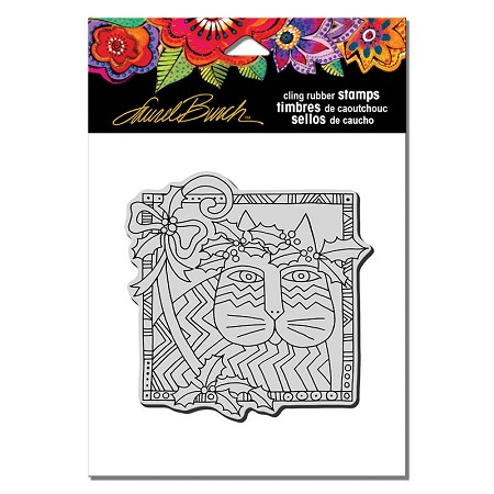 Stampendous - Laurel Burch - Cling Rubber Stamp Holly Cat