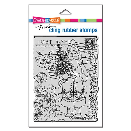 Stampendous - Cling Postcard Santa Rubber Stamp