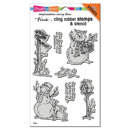 Stampendous - Cling Giving Snowmen Rubber Stamp Set