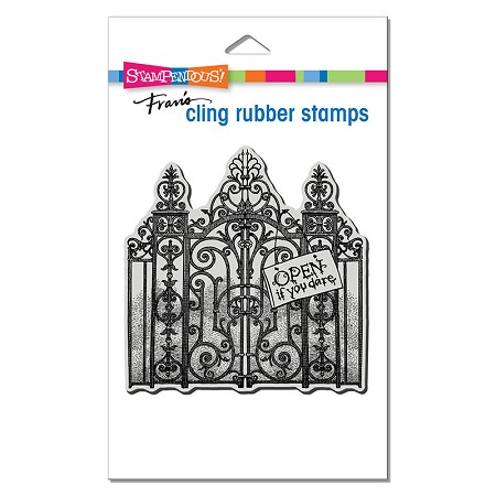 Stampendous - Cling Haunted Gates Rubber Stamp