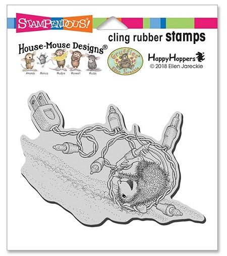 Stampendous - Cling House Mouse Tangle Tumble Rubber Stamp