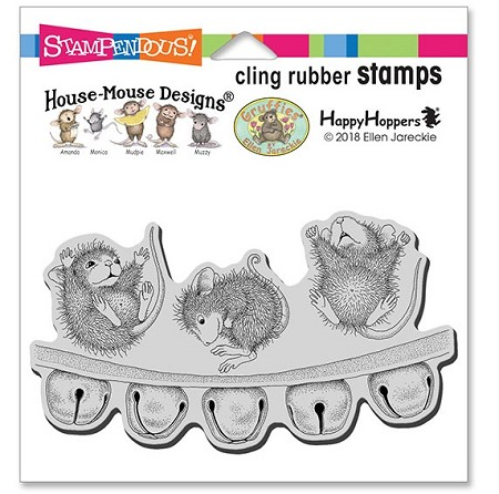Stampendous - Cling House Mouse Jingle Jolly Rubber Stamp