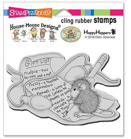 Stampendous - Cling House Mouse Light Note Rubber Stamp