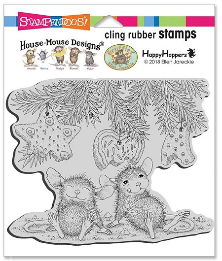 Stampendous - Cling House Mouse Cookie Ornaments Rubber Stamp