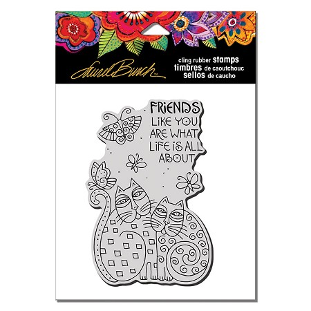 Stampendous - Laurel Burch Cling Feline Friends Like You Rubber Stamp