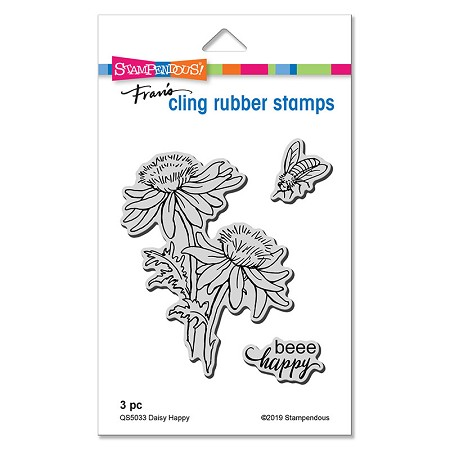 Stampendous - Daisy Happy Cling Rubber Stamp Set