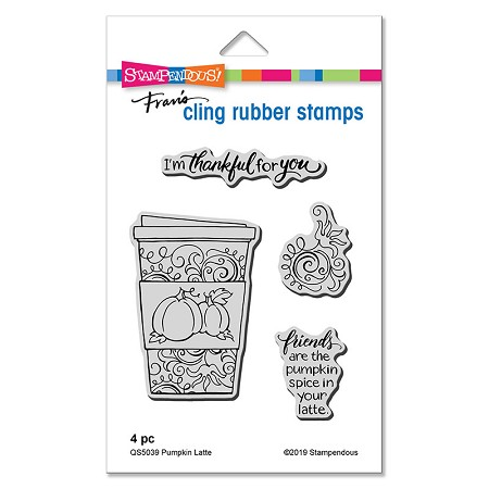 Stampendous - Pumpkin Latte Cling Rubber Stamp Set