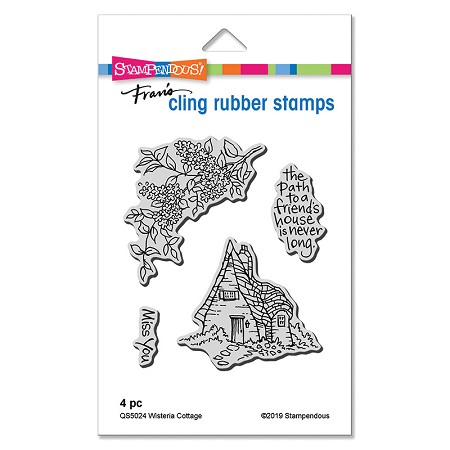 Stampendous - Wisteria Cottage Cling Rubber Stamp Set