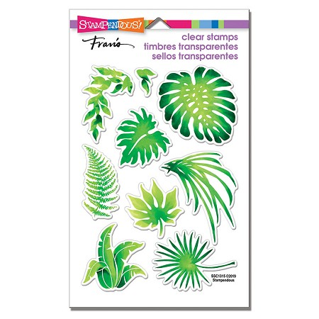Stampendous Perfectly Clear Stamp - Jungle Greenery Perfectly Clear Stamps Set