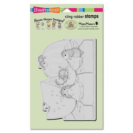 Stampendous Cling Mounted Rubber Stamps - House Mouse Designs - Summer Snacking Rubber Stamp