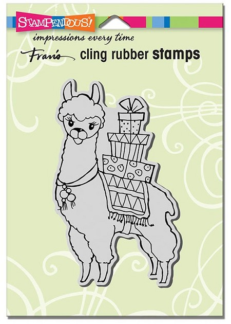 Stampendous Cling Mounted Rubber Stamps - Llama Delivery