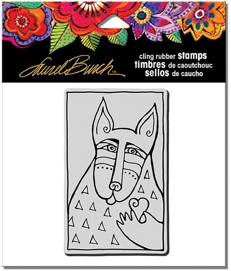 Stampendous - Laurel Burch - Cling Rubber Stamp Dog Love