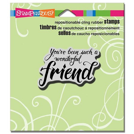 Stampendous - Cling Mounted Rubber Stamp - Penned Friend