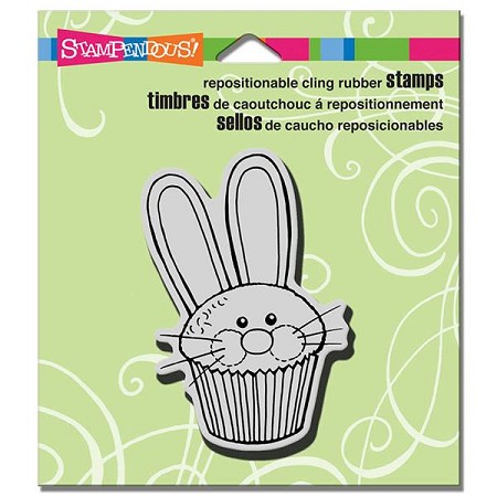Stampendous - Cling Mounted Rubber Stamp - Easter Cupcake