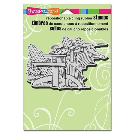 Stampendous - Cling Mounted Rubber Stamp - Adirondack Pair