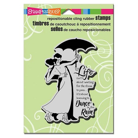 Stampendous - Cling Mounted Rubber Stamp - Rain Dance