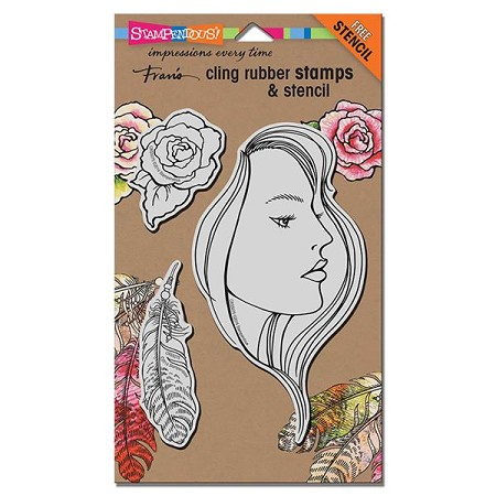 Stampendous - Cling Mounted Rubber Stamp - The Look Set